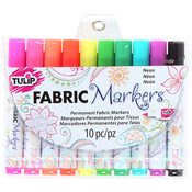 Neon - Tulip Fabric Markers 10/Pkg