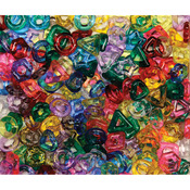 Assorted Translucent Shapes - Stringing Ring Beads 220/Pkg