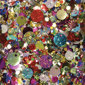 Assorted Shapes & Colors - Sequins & Spangles 4oz