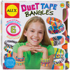 Duct Tape Bangles Kit ALEX TOYS-Duct Tape Bangles Kit. Make fun and fashionable accessories using brightly colored duct tape! Simply wrap the bangle bracelet with the tape for funky designs that are uniquely you. This kit contains five rolls of duct tape (3 yards each), six plastic bangles, and easy instructions. Recommended for ages 7 and up. Conforms to ASTM F963 and D4236. Imported.