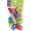 12 Cutters & 1 Rolling Pin - Creativity Street Junior Cutter Set 13pcs