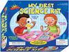 Scientific Explorers My First Science Kit POOF-SLINKY-Scientific Explorer: My First Science Kit. This exceptional series of home science kits is based on the nationally recognized Great Explorations in Math and Science (GEMS) program pioneered at UC Berkley's Lawrence Hall of Science.  Acclaimed for excellence as a teaching resource.  Explore the science of color. Grow gobs of crystals, Learn how to think like a scientist.  This package contains three giant test tubes with caps, one color mixing tray for twenty-four colors, three pipettes, six mixing cups, 1oz/28g crosslinked polyacrylamide, twelve color tablets, one magnifier, and an activity guide.  Recommended for children ages 4 and up.  WARNING: CHOKING HAZARD-small parts. Not for children under 3 years.  This kit contains chemicals that may be harmful if misused. Read cautions on individual containers carefully.  Not to be used by children except under adult supervision. Imported.
