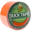 Blaze Orange Bright Colored Duck Tape SHURTECH-Bright Colored Duck Tape. Like standard Duck Tape but in bright colors! Perfect for making Duck Tape crafts or just decorating almost anything! This package contains 15 yards of 1.88 inch wide Duck Tape. Available in a variety of colors: each sold separately. Caution: Not to be used on heating appliances. Suitable for use at no more than 200 degrees. Made in USA.