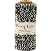 Black - Cotton Baker's Twine Spool 2 Ply 410'/Pkg