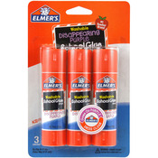 Elmer's Washable School Glue Stick - Purple 3/Pkg