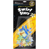 Swirl Stars 30/Pkg - Glow In The Dark Pack