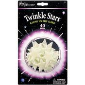 Twinkle Stars 40/Pkg - Glow In The Dark Pack