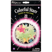 Colorful Stars 50/Pkg - Glow In The Dark Pack