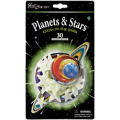 Planets & Stars 30/Pkg - Glow In The Dark Pack