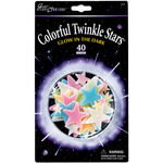 Colorful Twinkle Stars 40/Pkg - Glow In The Dark Pack