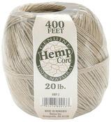 Natural - Hemp Cord 20# 400'/Pkg