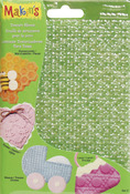 "Makin's Clay Texture Sheets 7""X5-1/2"" 4/Pkg - Set C (Honeycomb/Eyelet/Weave/Lace"