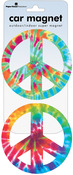 Peace Signs - Tie Dye - Car Magnet