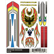"Customs Designs - Pine Car Derby Dry Transfer Decal 4""X4.75"" Sheet"