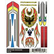 "Customs Designs - Pine Car Derby Dry Transfer Decal 4""X4.75"" Sheet"
