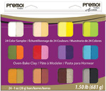 Assorted Colors - Premo Clay Sampler Pack 1oz 24/Pkg