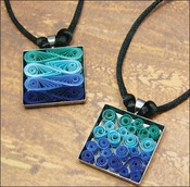 Modern Waves Necklace - Quilling Kit