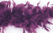 Purple - Chandelle Feather Boa 72""