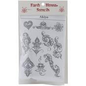 Akyio Henna Designs - Stencil Transfer Pack