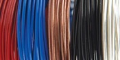 22 Gauge Primary 5/Pkg - Plastic Coated Fun Wire Value Pack 9' Coils