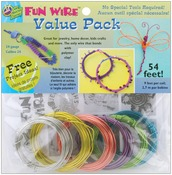 24 Gauge Translucent 6/Pkg - Plastic Coated Fun Wire Value Pack 9' Coils