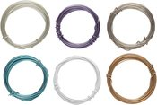 24 Gauge Translucent 6/Pkg - Plastic Coated Fun Wire Value Pack 9' Coils