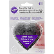 Heart - Fondant Double Cutters 6pc Set