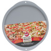 14.25  - Recipe Right Pizza Pan WILTON-Recipe Right: Pizza Pan. Recipe Right pans are constructed of heavy-gauge steel that provides an even heating performance. The non-stick coating makes food release and clean-up a breeze! This package contains one 14-1/4 inch diameter pizza pan. Dishwasher safe. Imported.