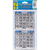 "250 Games - Bingo Game Sheets 4""X8"" 125/Pkg"