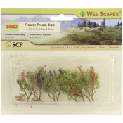 "Red, Pink, Yellow & Purple - Flower Trees 1.5"" To 2"" 8/Pkg"