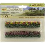"""Green-Blossom Blended - Flower Hedges 5""""X.375""""X.625"""" 4/Pkg"""