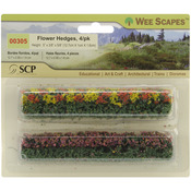 "Green-Blossom Blended - Flower Hedges 5""X.375""X.625"" 4/Pkg"