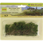 """Light Green - Wire Foliage Trees 1.5"""" To 3"""" 24/Pkg"""