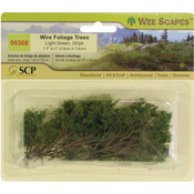 "Light Green - Wire Foliage Trees 1.5"" To 3"" 24/Pkg"