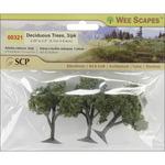 """Deciduous Trees 2.25"""" To 2.5"""" 3/Pkg"""