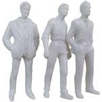 """White - Male Figures 1.5"""" 5/Pkg"""