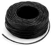 Black - Waxed Thread 25yd
