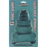 Dog Bone Cookie Cutters 6/Pkg-