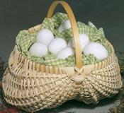 """Egg Basket 7""""X7"""" - Blue Ridge Basket Kits"""