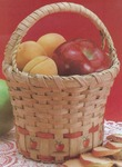 "Apple Basket 6""X6""X9"" - Burgundy Hill Basket Kits"