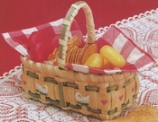 "Gift Basket 3.5""X6.5""X3"" - Burgundy Hill Basket Kits"