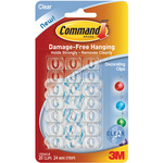Clear 20 Clips and 24 Strips - Command Mini Decorating Clips