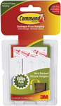 White 3 Hooks and 6 Strips - Command Large Wire-Backed Picture Hangers