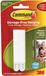 White 4 Sets/Pkg - Command Narrow Picture Hanging Strips