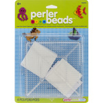 Large Square Clear - Perler Fun Fusion Pegboards 2/Pkg