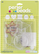 Clear Small & Large Basic Shapes - Perler Fun Fusion Pegboards 5/Pkg