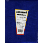 "Embossed Metallic - Specialty Paper 8.5""X11"" 12/Pkg"