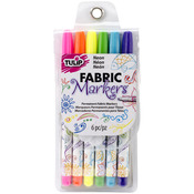 Neon - Tulip Writers Fabric Marker Set 6/Pkg