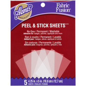 "4.25""X5"" - Aleene's Fabric Fusion Sheets Peel & Stick 5/Pkg"
