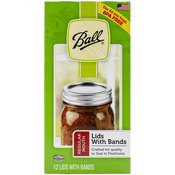 Ball Regular Mouth Lids & Bands 12/Pkg-